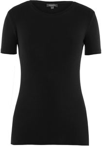 Lady T-Shirt Round Neck Jet Black - Naturaline