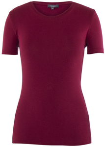 Lady T-Shirt Round Neck Rio Red - Naturaline