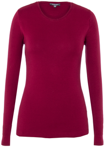 Lady Longsleeve Round Neck Rio Red - Naturaline