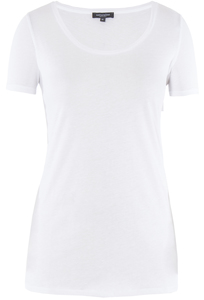Lady Single Jersey T-Shirt Bright White - Naturaline
