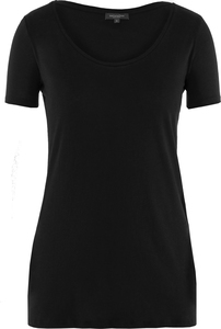 Lady Single Jersey T-Shirt Jet Black - Naturaline