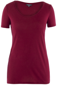 Lady Single Jersey T-Shirt Rio Red - Naturaline