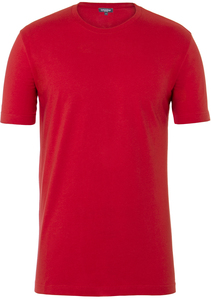 Men Single Jersey T-Shirt Lipstick Red - Naturaline