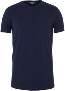 Men V-Neck T-Shirt Black Iris - Naturaline