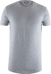 Men V-Neck T-Shirt Stone Grey - Naturaline