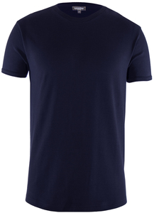 Men Round Neck T-Shirt Black Iris - Naturaline