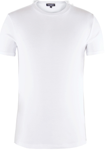 Men Round Neck T-Shirt Bright White - Naturaline