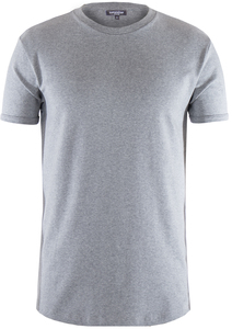 Men Round Neck T-Shirt Stone Grey - Naturaline
