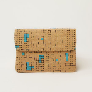 iPad Mini Hülle oder Clutch | Dots & Squares Turquoise - The Wren Design