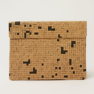 Natural Paper Notebook-Tasche | Dots & Squares - The Wren Design