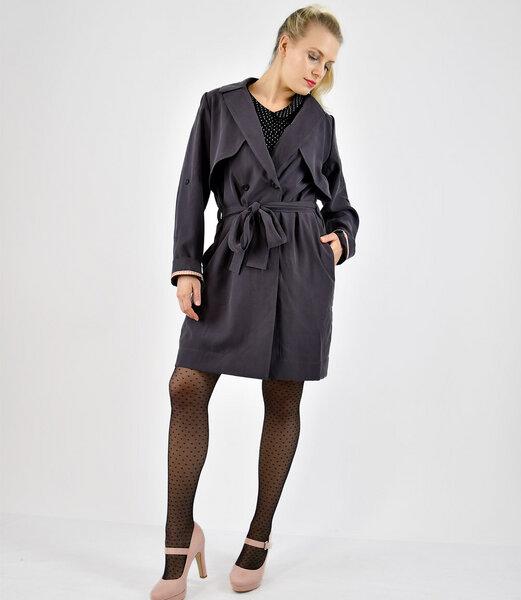 fr ulein stachelbeere dunkelgrauer mantel mit gro en. Black Bedroom Furniture Sets. Home Design Ideas