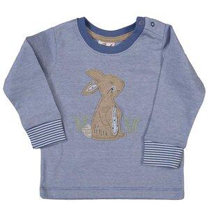 Jungen Shirt LA blau/melange Bio Baumwolle People Wear Organic - People Wear Organic