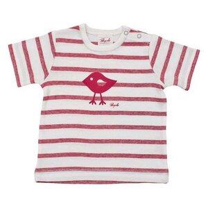 Mädchen Kurzarmshirt rot geringelt Bio Baumwolle People Wear Organic - People Wear Organic