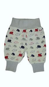 Baby Hose weiß mit Elefantenprint biologisch People Wear Organic - People Wear Organic