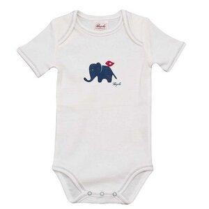 Baby Kurzarmbody weiß Print ökologisch People Wear Organic - People Wear Organic