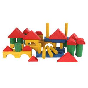 Ergänzungs-Bausteine aus Holz, bunt gebeizt oder natur - Beck Holzspielzeug