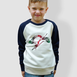 Kinder T-Shirt, 'Chamäleon', Navy - little kiwi