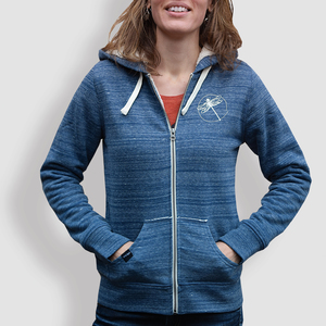 "Damen Hoodie, ""Libelle"", Mid Heather Blue - little kiwi"
