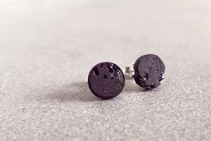 Ohrstecker Black Edition Bling Bling - Concrete Jungle | Betonmanufaktur