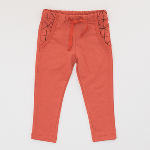 Sweat Hose in Grau, Jeansblau, Terracotta - Pünktchen Komma Strich