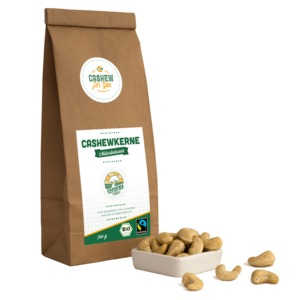 Bio-Fairtrade-Cashewkerne von der Elfenbeinküste (700g) - Cashew for You