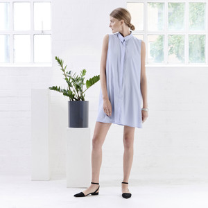 Kleid CONE crepe lightblue - JAN N JUNE