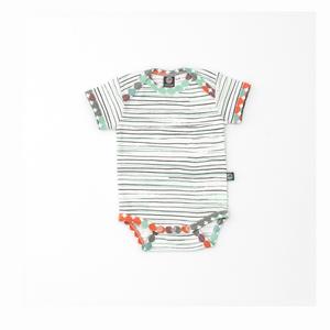 Bio Baby Body / gestreift / Punkte - Pünktchen Komma Strich