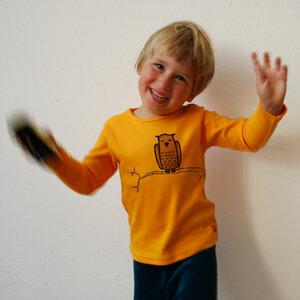 Kinder longsleeve Zweigeule gelb - Cmig