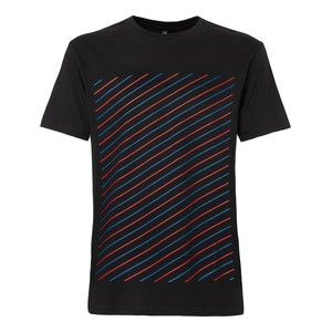 ThokkThokk Thin Striped T-Shirt red & blue/black - ThokkThokk