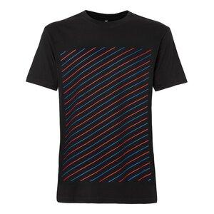 ThokkThokk Thin Striped T-Shirt red & blue/black - THOKKTHOKK