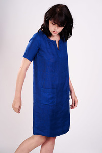Linen Slip On Dress  - bibico