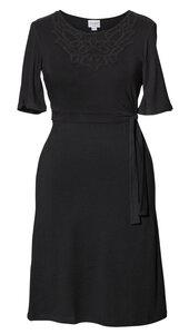 2 in 1 Stillkleid und Umstandskleid 'Stella' Kurzarm schwarz - Boob