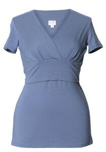 2 in 1 Stillshirt und Umstandsshirt in einem 'Sophia', steel blue - Boob