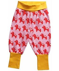 Babyhose 'Dalahorse' für Mädchen rosa-rot-gelb - maxomorra