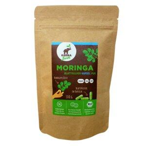 Bio Moringa Blattpulver in Kapseln 130 x 650 mg - Karma Foods