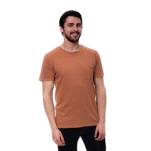 Leinen T-Shirt Rost Rot - bleed