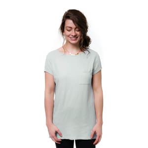 Leinen T-Shirt Damen Hellgrau - bleed