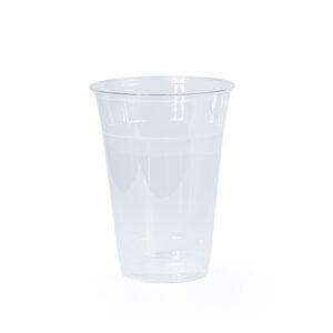 Einweggeschirr Bio Kunststoff Becher transparent 50 Stück PLA - RELAXFAIR
