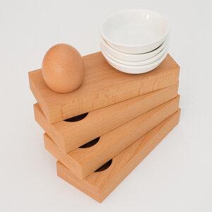 Eierbecher Buche (4-er Set) - klotzaufklotz