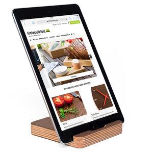 Tablet-Ständer Multiplex Nussbaum - klotzaufklotz