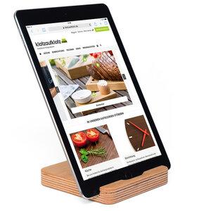 Tablet-Ständer Multiplex Eiche - klotzaufklotz