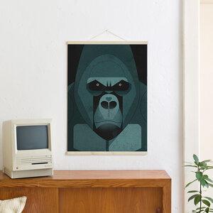 Set / Gorilla Love + Posterleiste Ahorn 50 cm - Kleinwaren / von Laufenberg