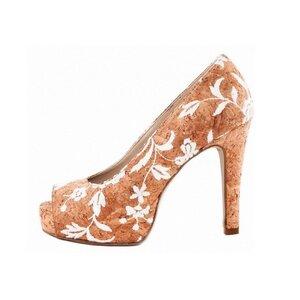Cork Rose Peep toe - Nae Vegan Shoes