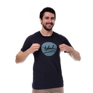 Dot Logo T-Shirt Dunkelblau - bleed
