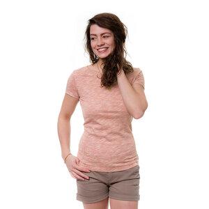 Pinstripe T-Shirt Damen Rot - bleed