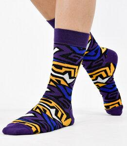 Bunte Unisex-Socken mit geometrischen Elementen lila 777781512 - Foot Knox