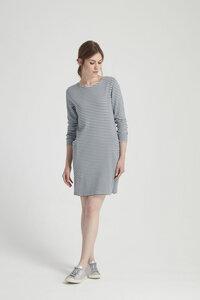 Louise Stripe Dress - Grey  - People Tree