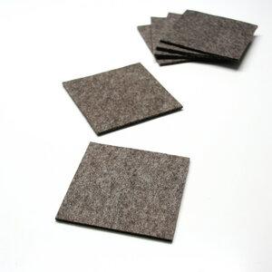 Filz Untersetzer 9x9 cm graubraun-meliert 3 mm, 6 Stück  - tuchmacherin - handgewebtes design + filz