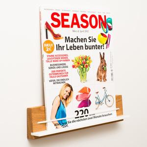 Zeitschriftenhalter Eiche - klotzaufklotz