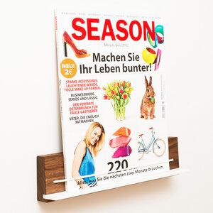Zeitschriftenhalter Nussbaum - klotzaufklotz